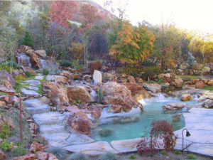 Backyard Custom Landscape Design & Utah Pond