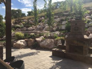big rocks for landscaping & outdoor fireplace