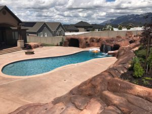 Custom utah swimming pool