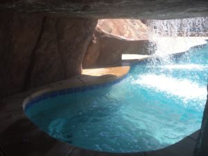 Private Pool with grotto