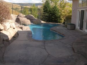 Concrete Set Inground Outdoor Pool