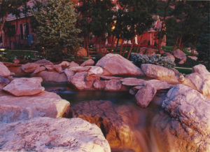 Residential Landscaping with waterfall