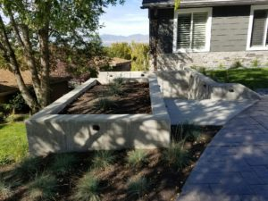 Custom Stone Stairway and Planter Boxes