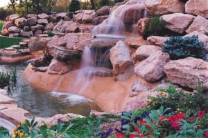 Backyard Waterfall Custom Utah Design
