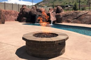 Custom Firepit - Outdoor Fireplace Design and Build
