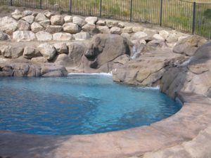 Custom Pool With Waterfalls