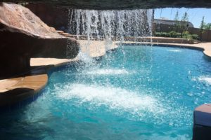 Swimming Pool Waterfall Cement Cave