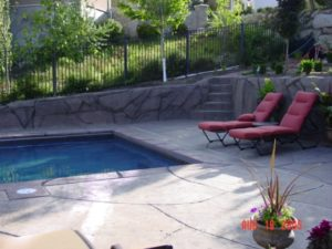 Pool Deck Concrete Utah Landscaping