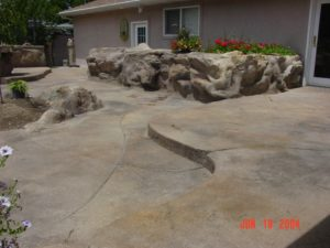 Cement Custom Deck with Step