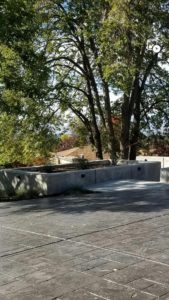 Utah Backyard Custom Concrete Deck