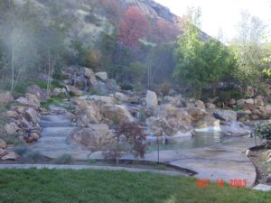 using waterfalls in landscaping