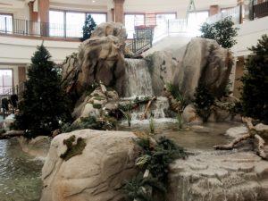 custom concrete for inside waterfall