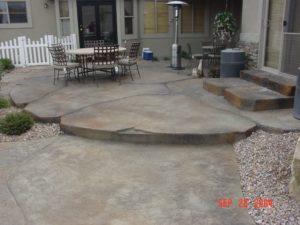 Multilevel Concrete Deck Utah Custom