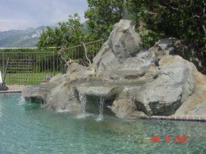 Custom Pool Waterfall