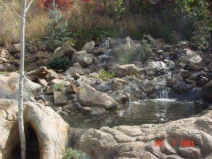 Watefall in Utah backyard