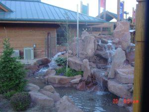 Waterfall at Hogle Zoo