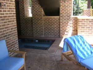 Hot Tub Set in Porch Cove