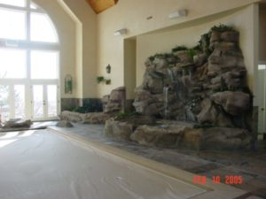 Custom Indoor Faux Waterfall