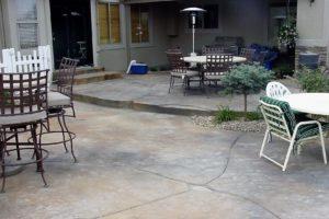 decorative deck concrete & custom patio design