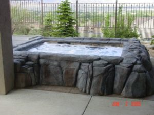 Custom Hot Tub Set Faux Rocks