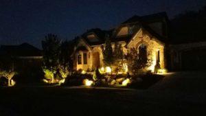 Lights on exterior of home - Utah landscape lighting