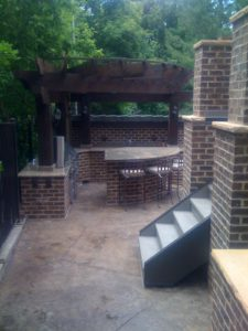 Outdoor BBQ Island Custom Patio Design