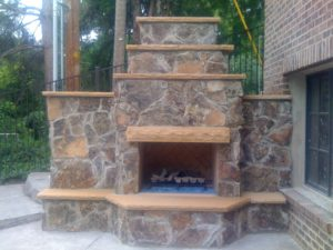 Backyard Firepit Custom Fireplace Design Utah