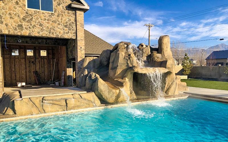 Utah custom pool and waterfall - SBI Waterfalls