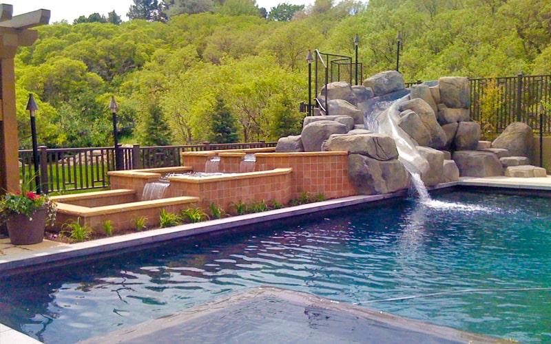 SBI Custom Waterfall Pools Utah