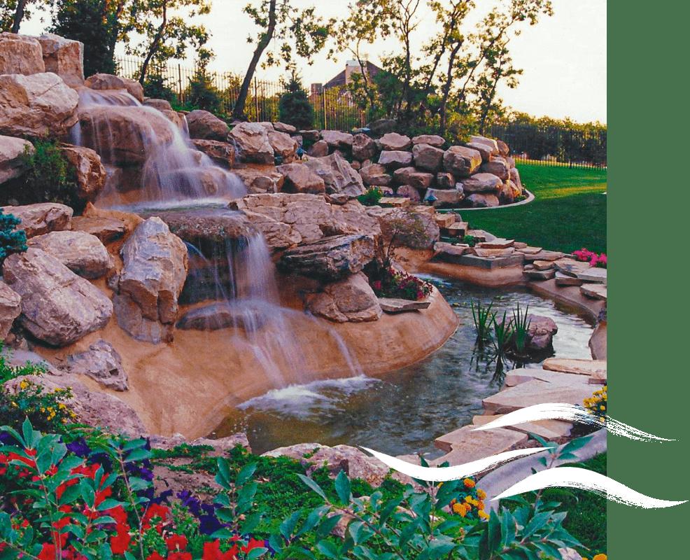 Backyard Waterfalls- SBI Waterfall Builders in Utah