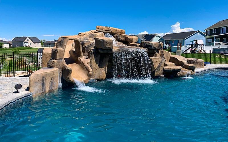 SBI Utah Backyard Waterfall Contractors