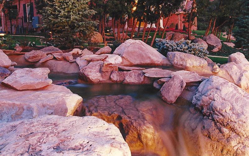 Custom Backyard Waterfalls-SBI Custom Waterfalls