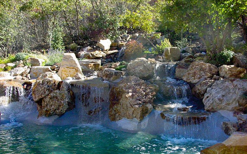 Home Waterfall Pool Builders