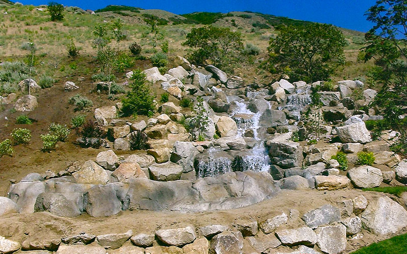 Backyard Waterfalls and Water Feature Construction